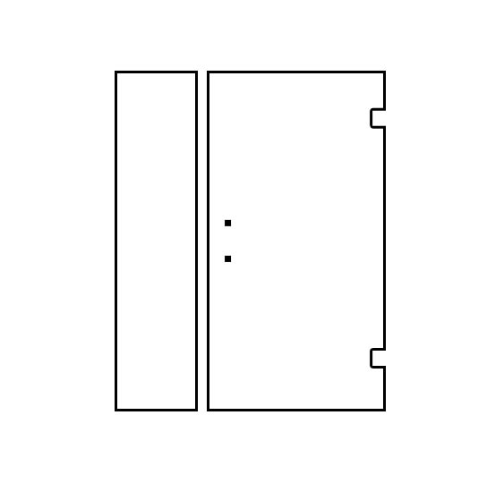 Shower Door Design Tool - Door/Panel Hinged Right