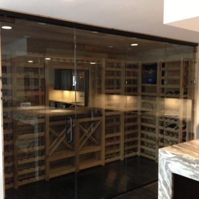 Residential Glass - Frameless wine room glass