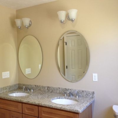 Beveled Oval Mirror