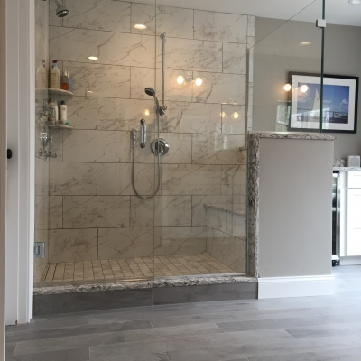Shower Door - Corner with Chrome