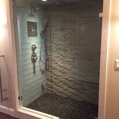 Shower Door - steam