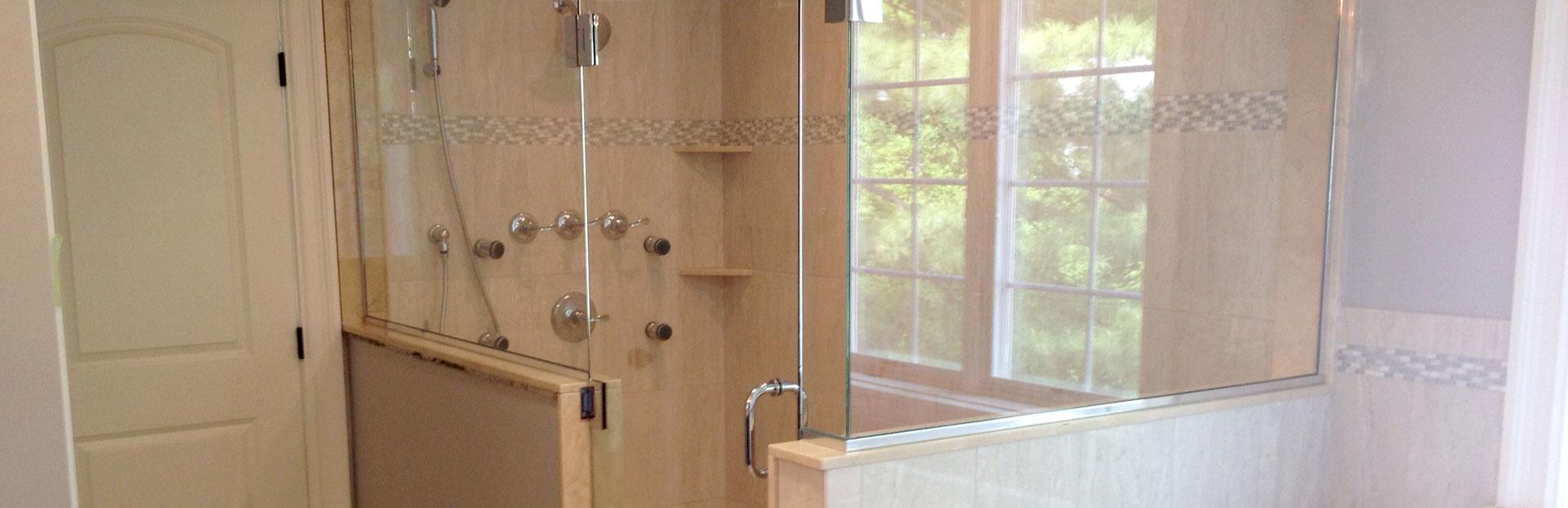 Corner steam shower - Franklin Glass Company