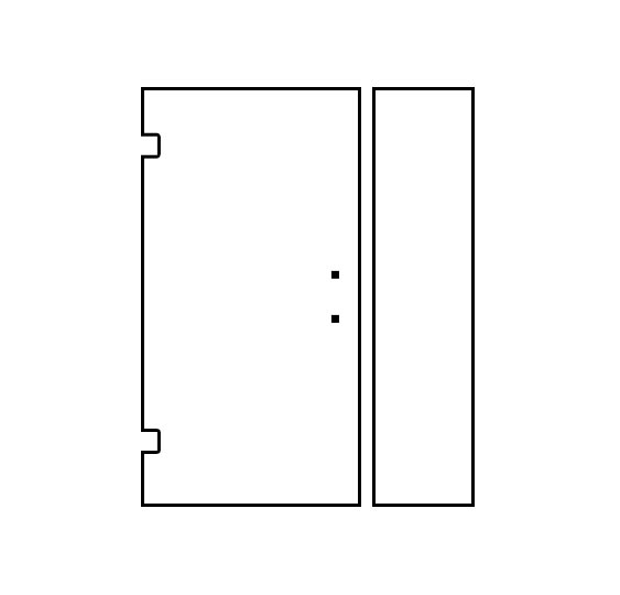 Shower Door Design Tool - Door/Panel Hinged Left