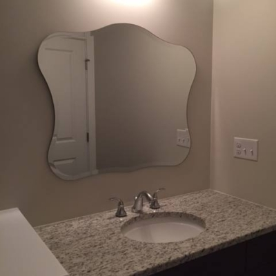 Custom beveled mirror