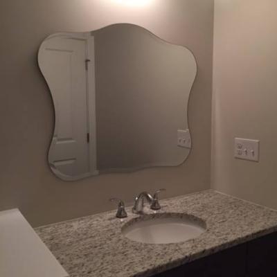 Custom beveled mirror