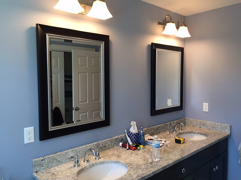Blacked framed mirrors