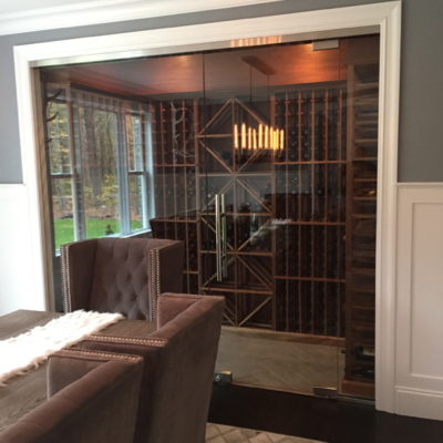 Residential Glass - Frameless wine room glass