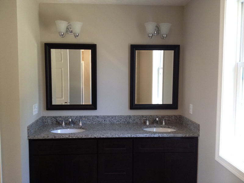 Black framed beveled mirrors