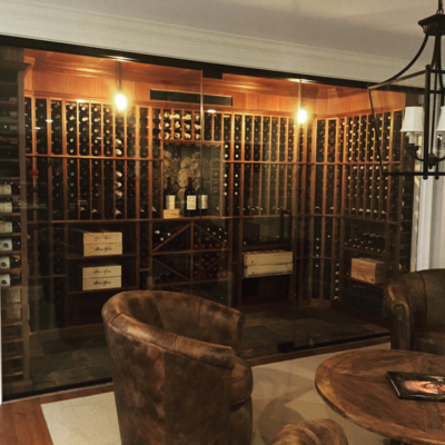 Residential Glass - Wine room glass