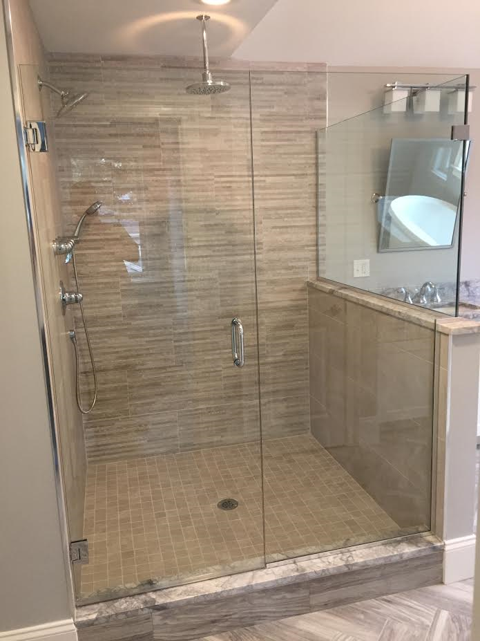 Shower Door - corner & Glass Shower Door Gallery - Franklin Glass Company