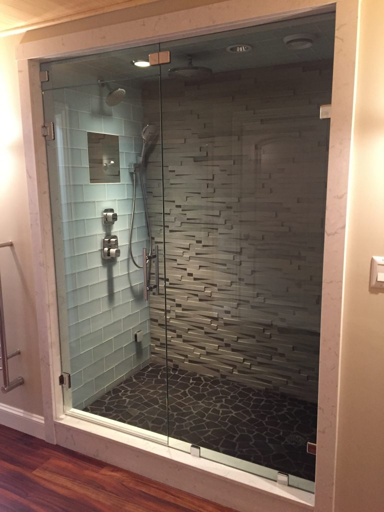 Steam Shower With Clips And Transom Franklin Glass Company