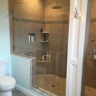 Shower Door - notched panel